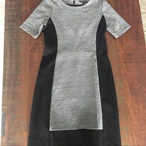 {J. Crew} EUC gray and black work dress size 4